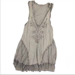 Free People Brown Beaded Sun Dress Lace Knit 16